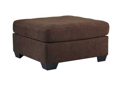Maier Walnut Oversized Accent Ottoman