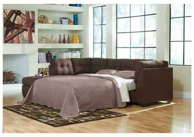 Maier Walnut Left Arm Facing Chaise End Sleeper Sectional