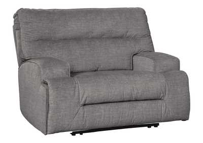 Coombs Charcoal Oversized Recliner