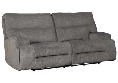 Coombs Charcoal Reclining Sofa