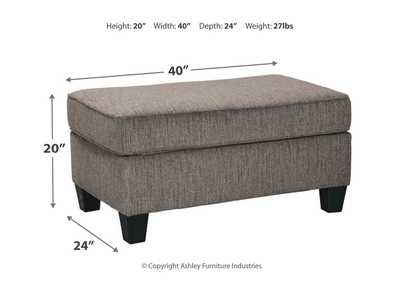Nemoli Slate Ottoman,Signature Design By Ashley