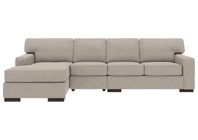 Ashlor Nuvella Slate 3 Piece LAF Chaise Sectional
