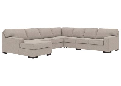 Ashlor Nuvella Slate 5 Piece LAF Chaise Sectional