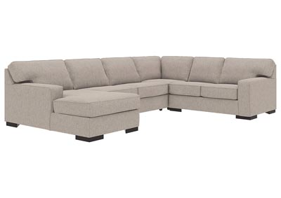 Ashlor Nuvella Slate 4 Piece LAF Chaise Sectional