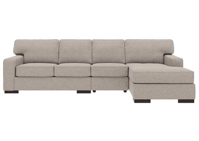 Ashlor Nuvella Slate 3 Piece RAF Chaise Sectional