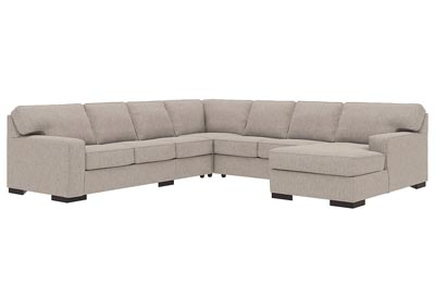 Ashlor Nuvella Slate 5 Piece RAF Chaise Sectional