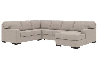 Ashlor Nuvella Slate 4 Piece RAF Chaise Sectional