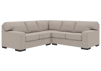 Ashlor Nuvella Slate 3 Piece Chaise Sectional