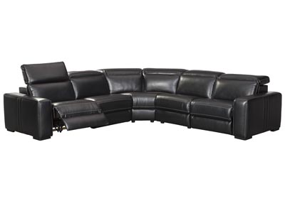 Mantonya Midnight Power Reclining 5 Piece Sectional