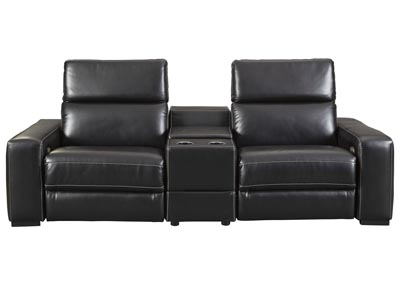 Mantonya Midnight Power Reclining Sectional with Console