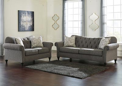 Praylor Slate Sofa & Loveseat