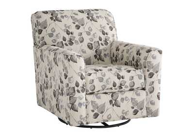Image for Abney Platinum Swivel Accent Chair