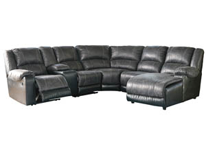 Nantahala Slate Right Facing Corner Chaise Sectional w/Storage Console