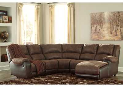 Nantahala Coffee RAF Corner Chaise Sectional