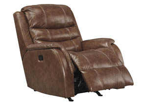 Metcalf Nutmeg Power Rocker Recliner