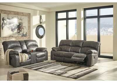 Dunwell Steel Power Reclining Sofa and Loveseat w/Adjustable Headrest
