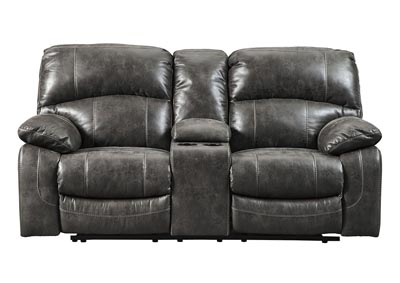 Dunwell Steel Power Reclining Loveseat w/Console and Adjustable Headrest