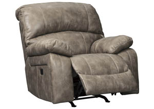 Dunwell Driftwood Power Rocker Recliner w/Adjustable Headrest