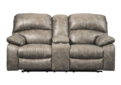 Dunwell Driftwood Power Recliner Loveseat w/Console and Adjustable Headrest