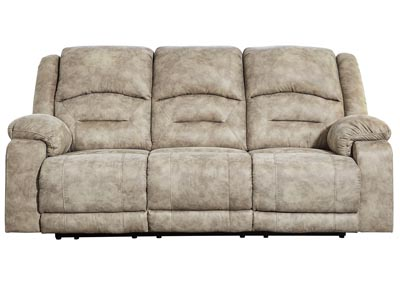 McGinty Graystone Power Reclining Sofa w/Adjustable Headrest