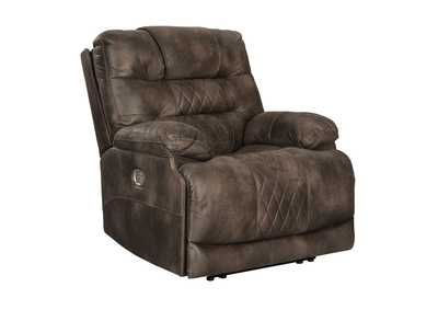 Welsford Walnut Power Recliner w/Adjustable Headrest