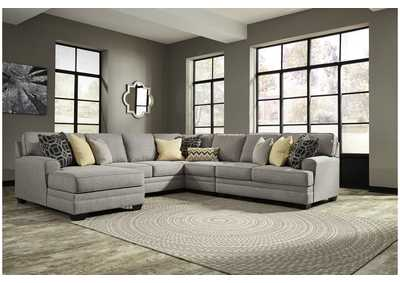 Cresson Pewter 5 Piece LAF Chaise Sectional