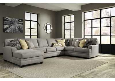 Cresson Pewter 4 Piece LAF Chaise Sectional