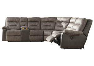 Hacklesbury Brownstone Left Facing Power Reclining Sectional