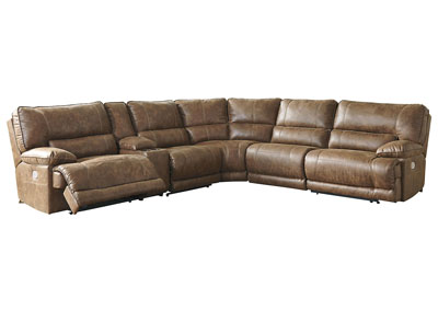 Thurles Saddle Reclining Sectional w/Console
