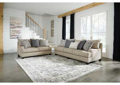 Reardon Gray Sofa and Loveseat