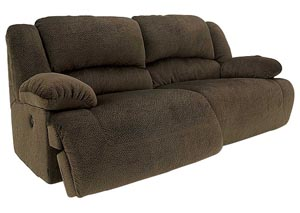 Toletta Chocolate 2 Seat Power Reclining Sofa