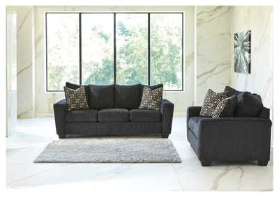 Wixon Slate Sofa and Loveseat