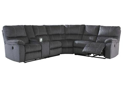 Urbino Charcoal Power Reclining Sectional w/Console
