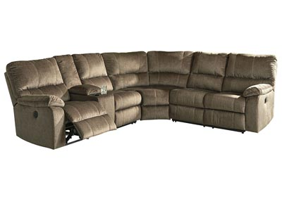 Urbino Mocha Power Reclining Sectional w/Console