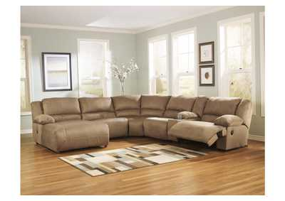Hogan Mocha Left Facing Chaise Sectional