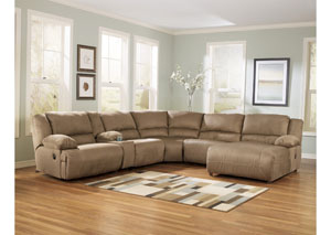 Hogan Mocha Right Facing Chaise Sectional