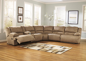 Hogan Mocha Reclining Sectional w/ Console