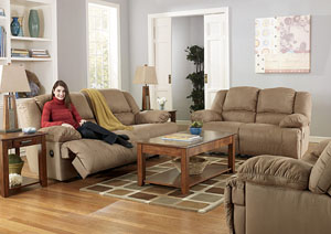 Hogan Mocha Reclining Sofa & Loveseat,Signature Design By Ashley