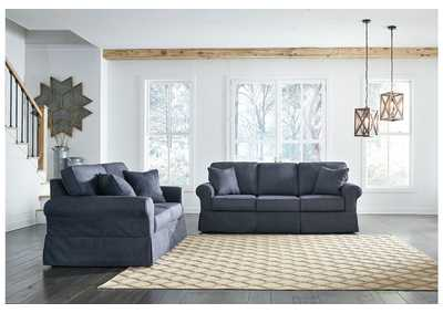 Alano Denim Sofa and Loveseat