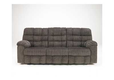Acieona Slate Reclining Sofa w/ Drop Down Table