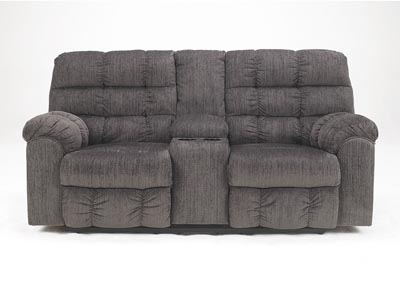 Acieona Slate Double Reclining Loveseat