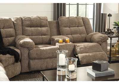 Image for Workhorse Cocoa Double Reclining Loveseat w/Console