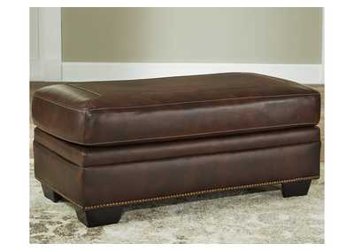 Image for Roleson Walnut Ottoman