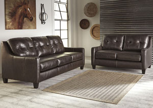 O'Kean Mahogany Sofa and Loveseat