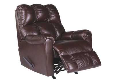 Denaraw Burgundy Rocker Recliner
