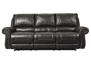 Milhaven Black Reclining Sofa