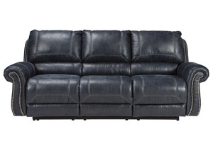 Milhaven Navy Reclining Power Sofa
