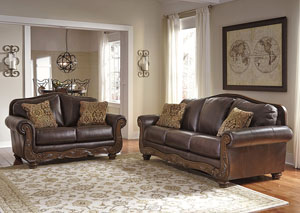 Mellwood Walnut Sofa & Loveseat