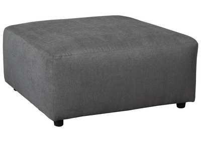 Jayceon Steel Oversized Accent Ottoman,Signature Design By Ashley