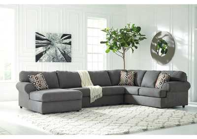 Jayceon Steel Left Facing Chaise End Sectional